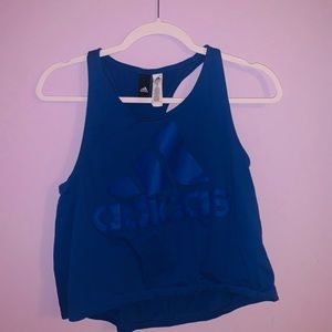 Blue Adidas cropped tank top